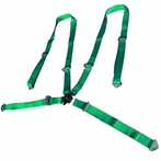 2 X Universal 4Pt Camlock Racing Seat Belt Harness (Green)