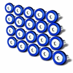 20PC Blue Aluminum Washer/Bolt Dress Up Kit