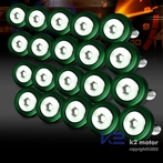 20PC Green Aluminum Washer/Bolt Dress Up Kit