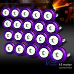 20PC Purple Aluminum Washer/Bolt Dress Up Kit