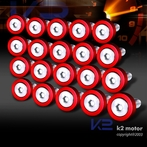20PC Red Aluminum Washer/Bolt Dress Up Kit