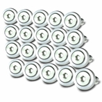 20PC Silver Aluminum Washer/Bolt Dress Up Kit