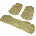 3PC Beige 3D Print Floor Mats