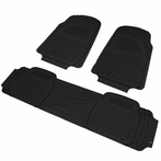 3PC Black 3D Print Floor Mats