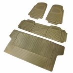4PC Beige 3D Print Floor Mats