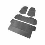 4PC Grey 3D Print Floor Mats