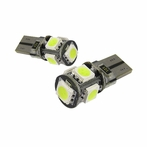 5 SMD T10 Canbus LED Bulb 2 PCS - White