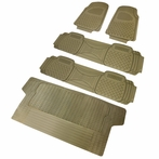 5PC Beige 3D Print Floor Mats