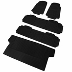 5PC Black 3D Print Floor Mats