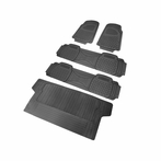 5PC Grey 3D Print Floor Mats