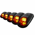 5PC Set Roof Cab LED Lights - Clear