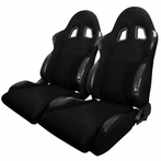A Pair Of Bride Style Reclinable Racing Seats Sliders (Black)