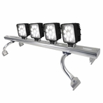 Aluminum Universal Square Work Fog Lamps X4 with Light Bar