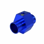Aluminum Water Temp Gauge Radiator Sensor Adaptor - 38mm (Blue)