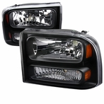 Black 1PC Headlights