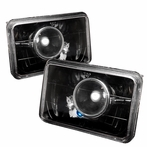 Black Crystal Projector Headlights (4x6)