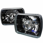 Black Crystal Projector Headlights (7x6)
