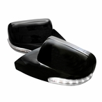 Black GT Style LED Side Mirrors (Manual)