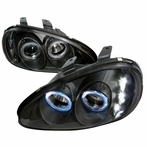 Black Halo Halo LED Projector Headlights