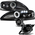 Black Halo LED Projector Headlights
