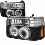 Black Halo Projector Headlights