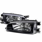 Black JDM Crystal Headlights