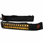 Black LED Bumper Lights
