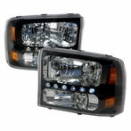 Black LED Crystal Headlights