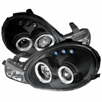 Black LED Halo Projector Headlights