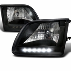 Black LED Headlights