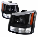 Black Projector Headlights + Bumper Lights (1PC)