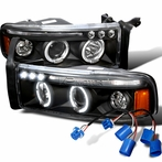 Black Projector Headlights with Wiring Harness