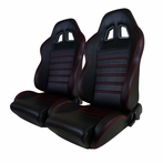 Black Racing Seats Red Stitching