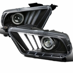 Black Sequential LED Projector Headlights