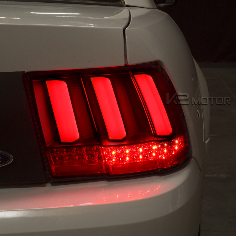 1999 2004 ford mustang led sequential black tail lights. Black Bedroom Furniture Sets. Home Design Ideas