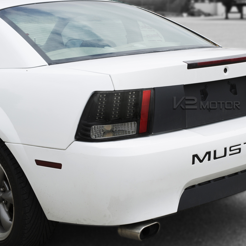 1999 2004 ford mustang led sequential black clear tail lights. Black Bedroom Furniture Sets. Home Design Ideas