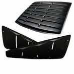 Black Slotted Side Vent + Rear Window Louver Combo