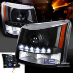 Black SMD LED Projector Headlights + Bumper Lights (1PC)