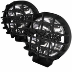 "Black Universal Round Work Fog Lamps (6.5"")"