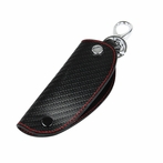 Carbon Fiber Patten Leather Smart Key Holder