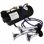 Chome Air Horn and 12V Compressor Tank