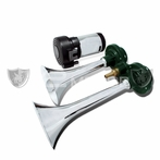 Chrome Air Horn x2 with Compressor