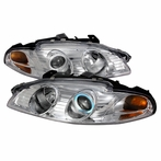 Chrome CCFL Halo Projector Headlights