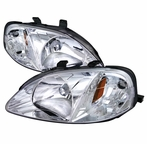 Chrome Crystal Headlights
