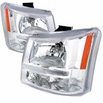 Chrome Crystal Headlights + Bumper Lights (1PC)
