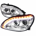Chrome DRL LED Projector Headlights