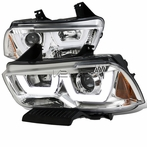 Chrome Dual-U Halo LED Projector Headlights