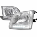 Chrome Euro LED Euro Headlights