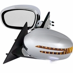 Chrome Fold Mirrors with LED Turn Signals (Power)