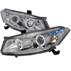 Chrome Halo LED Projector Headlights